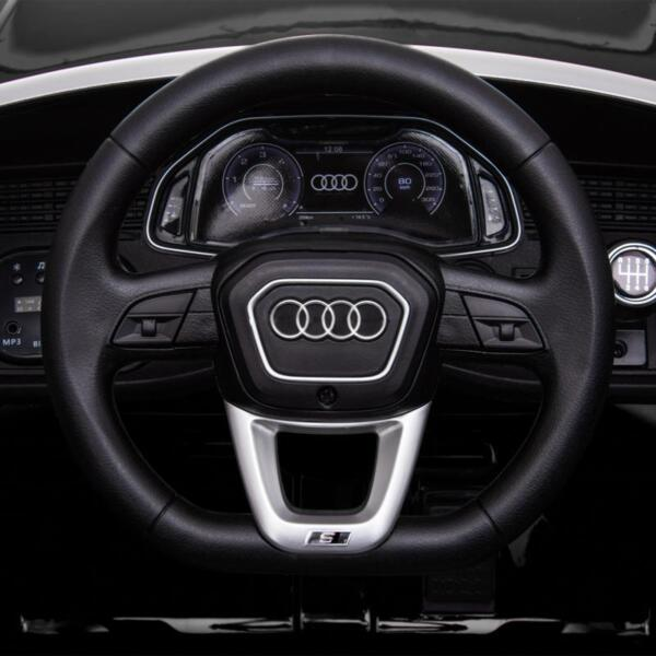 12V Audi Q8 Toy Cars For Kids Ride On Toy With Remote, Black 12v audi q8 kids ride on car black 37
