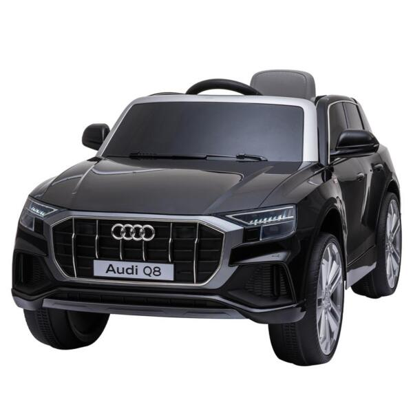 12V Audi Q8 Toy Cars For Kids Ride On Toy With Remote, Black 12v audi q8 kids ride on car black 6