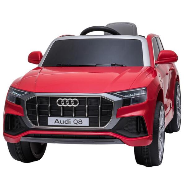 12V Audi Q8 Kids Electric Car With Remote Control, Red 12v audi q8 kids ride on car red 1