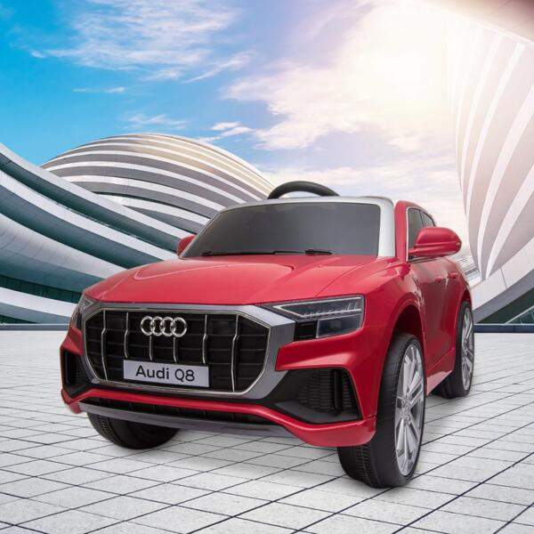 12V Audi Q8 Kids Electric Car With Remote Control, Red 12v audi q8 kids ride on car red 14