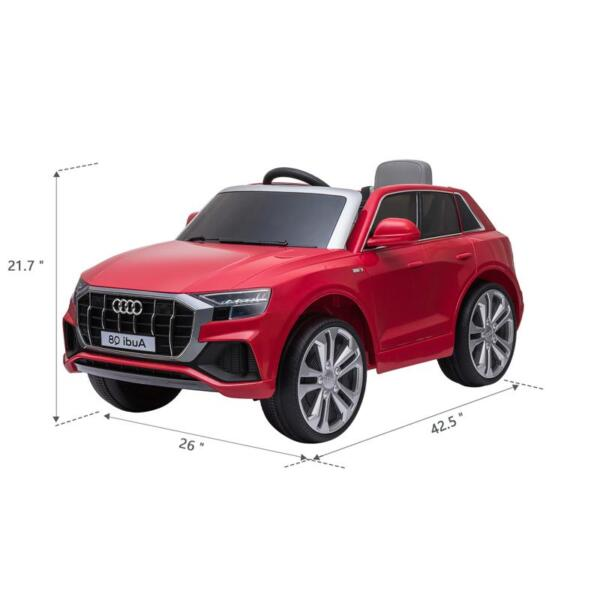 12V Audi Q8 Kids Electric Car With Remote Control, Red 12v audi q8 kids ride on car red 17 1