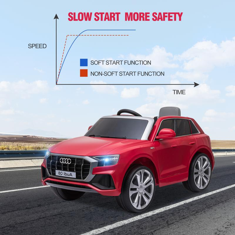 12V Audi Q8 Kids Electric Car With Remote Control, Red 12v audi q8 kids ride on car red 23 1