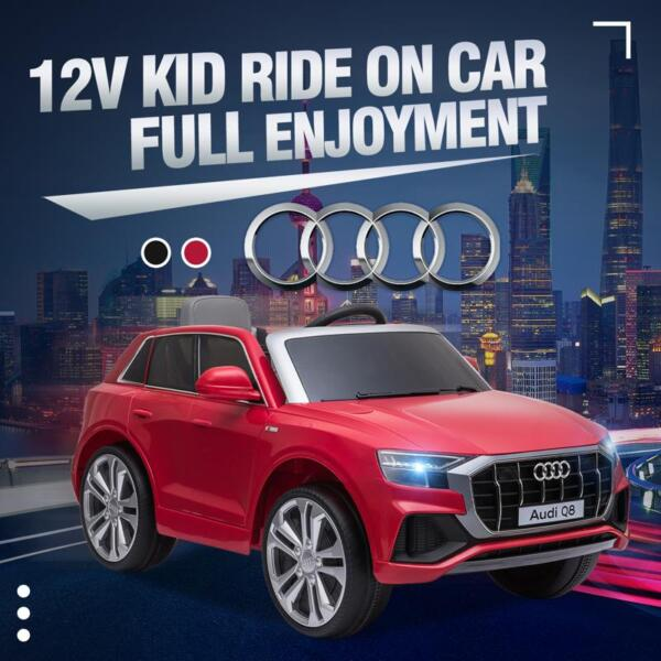 12V Audi Q8 Kids Electric Car With Remote Control, Red 12v audi q8 kids ride on car red 24 1