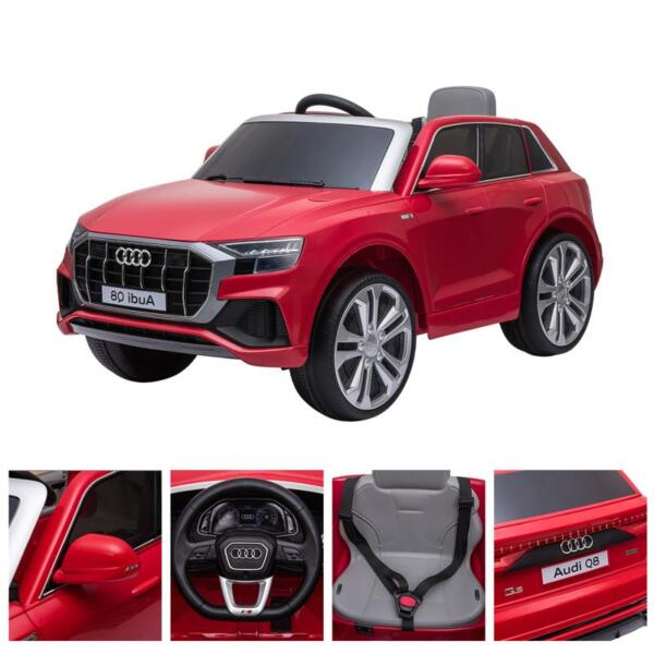 12V Audi Q8 Kids Electric Car With Remote Control, Red 12v audi q8 kids ride on car red 46