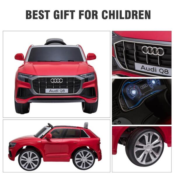 12V Audi Q8 Kids Electric Car With Remote Control, Red 12v audi q8 kids ride on car red 50