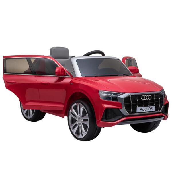 12V Audi Q8 Kids Electric Car With Remote Control, Red 12v audi q8 kids ride on car red 9