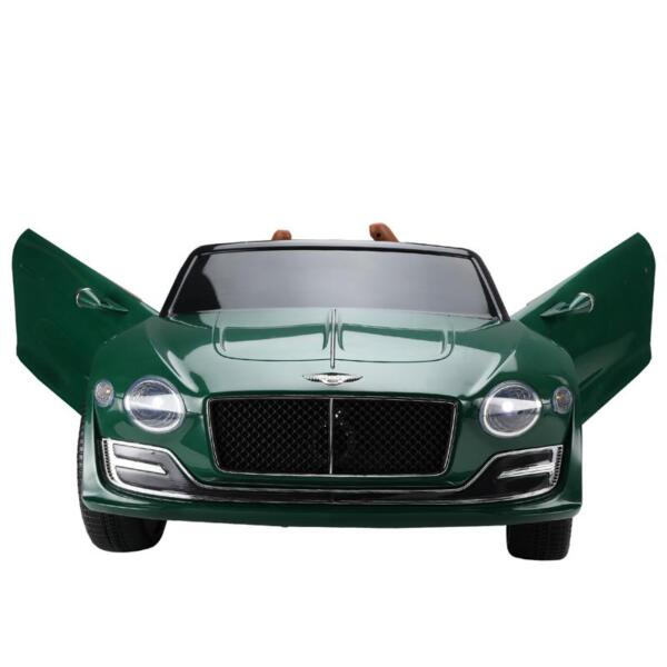 12V Bentley Ride On Car With Remote Control For Kids, Blackish Green 12v bentley licensed electric kids ride on racer car red 10 1