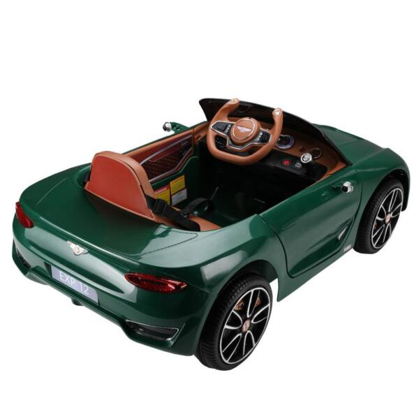 12V Bentley Ride On Car With Remote Control For Kids, Blackish Green 12v bentley licensed electric kids ride on racer car red 12 1
