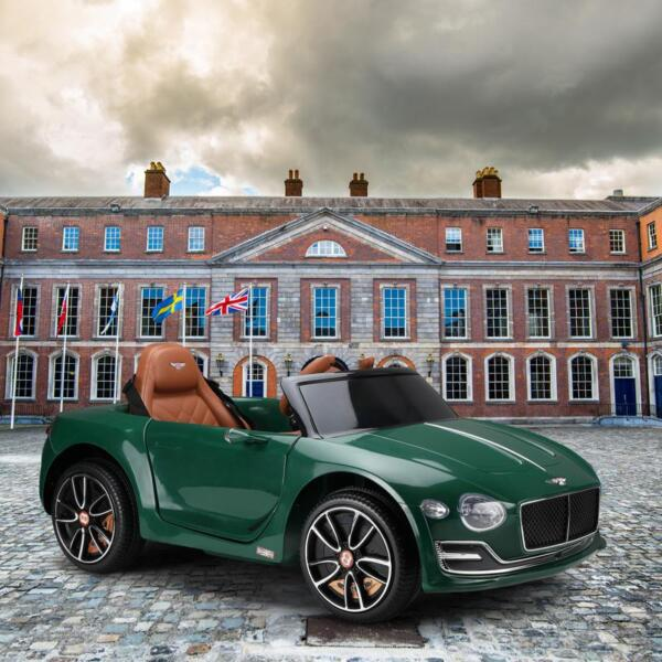 12V Bentley Ride On Car With Remote Control For Kids, Blackish Green 12v bentley licensed electric kids ride on racer car red 14 1