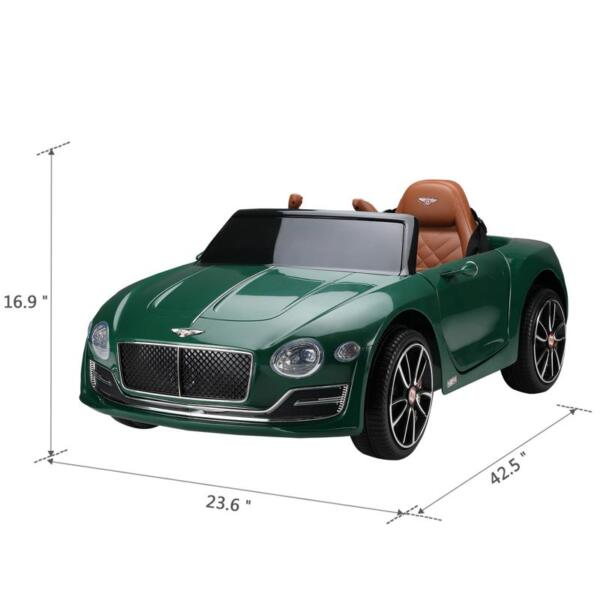12V Bentley Ride On Car With Remote Control For Kids, Blackish Green 12v bentley licensed electric kids ride on racer car red 16