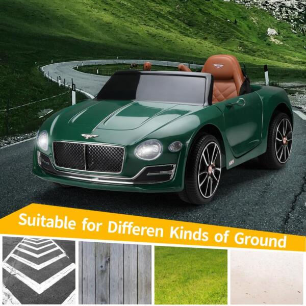 12V Bentley Ride On Car With Remote Control For Kids, Blackish Green 12v bentley licensed electric kids ride on racer car red 19