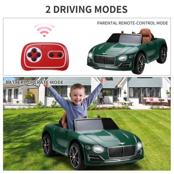 12V Bentley Ride On Car With Remote Control For Kids, Blackish Green 12v bentley licensed electric kids ride on racer car red 39