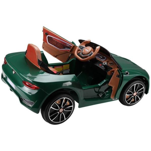 12V Bentley Ride On Car With Remote Control For Kids, Blackish Green 12v bentley licensed electric kids ride on racer car red 8