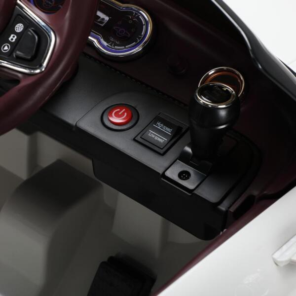12V Bentley Licensed Kids Ride On Racer Car, White 12v bentley licensed kids ride on racer car white 21 1