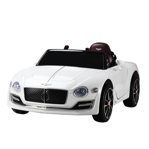 12V Bentley Licensed Kids Ride On Racer Car, White 12v bentley licensed kids ride on racer car white 32