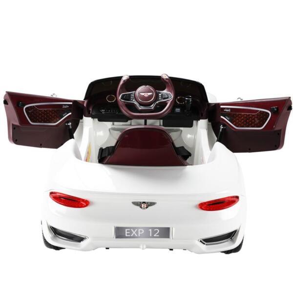 12V Bentley Licensed Kids Ride On Racer Car, White 12v bentley licensed kids ride on racer car white 38