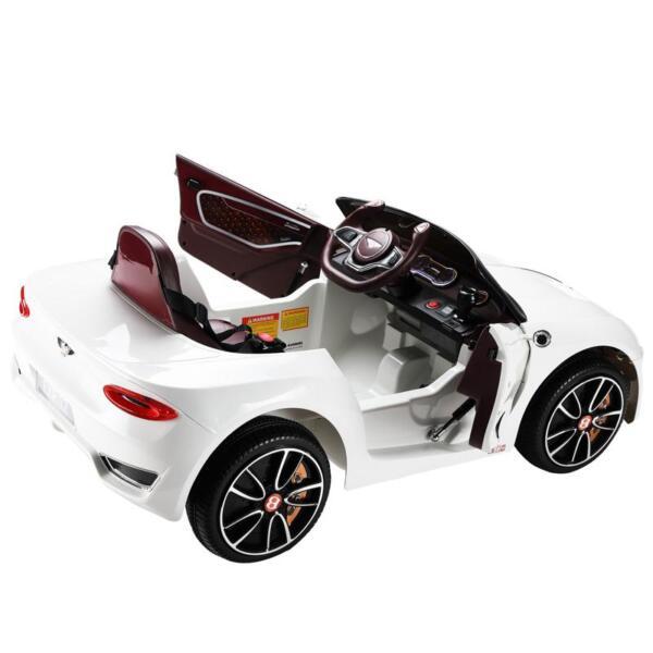 12V Bentley Licensed Kids Ride On Racer Car, White 12v bentley licensed kids ride on racer car white 39