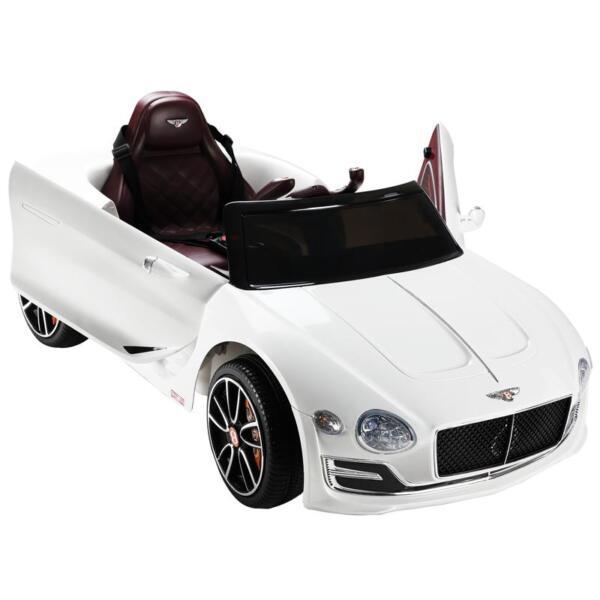 12V Bentley Licensed Kids Ride On Racer Car, White 12v bentley licensed kids ride on racer car white 40