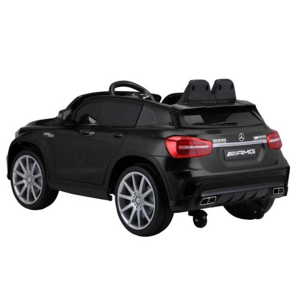 12V Mercedes Benz GLA45 Kids 2 Seater Power Wheels With Remote, Black 12v benz licensed gla45 kids electric car black 1