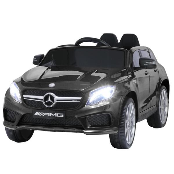 12V Mercedes Benz GLA45 Kids 2 Seater Power Wheels With Remote, Black 12v benz licensed gla45 kids electric car black 10 1