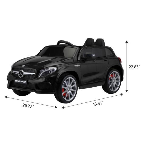 12V Mercedes Benz GLA45 Kids 2 Seater Power Wheels With Remote, Black 12v benz licensed gla45 kids electric car black 11 1
