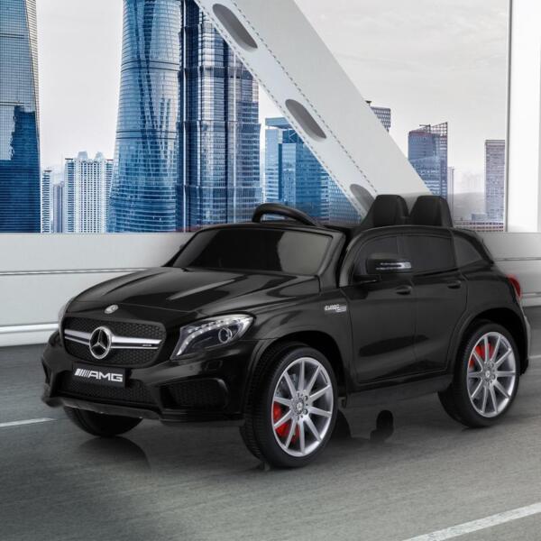 12V Mercedes Benz GLA45 Kids 2 Seater Power Wheels With Remote, Black 12v benz licensed gla45 kids electric car black 13