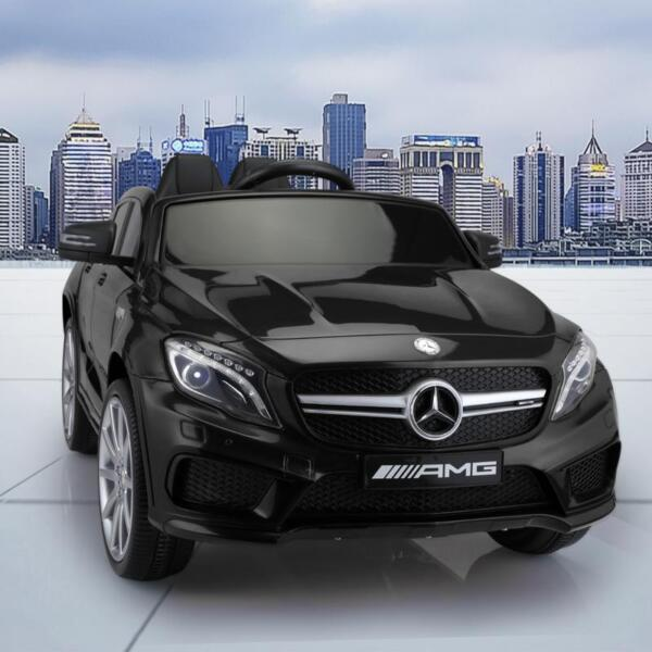 12V Mercedes Benz GLA45 Kids 2 Seater Power Wheels With Remote, Black 12v benz licensed gla45 kids electric car black 17