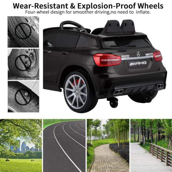 12V Mercedes Benz GLA45 Kids 2 Seater Power Wheels With Remote, Black 12v benz licensed gla45 kids electric car black 40