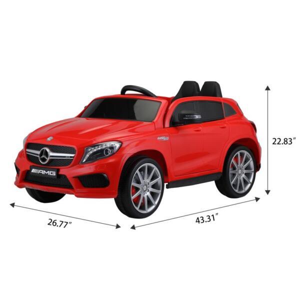 12V Mercedes Benz GLA45 Kids 2 Seater Power Wheels With Remote, Red 12v benz licensed gla45 kids electric car red 12