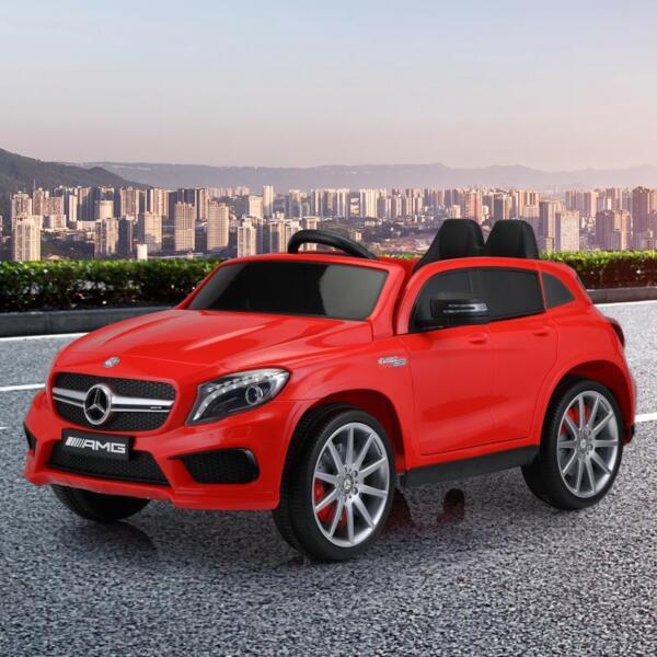 12V Mercedes Benz GLA45 Kids 2 Seater Power Wheels With Remote, Red 12v benz licensed gla45 kids electric car red 16