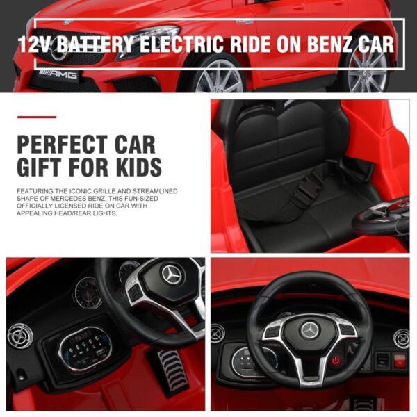 12V Mercedes Benz GLA45 Kids 2 Seater Power Wheels With Remote, Red 12v benz licensed gla45 kids electric car red 35