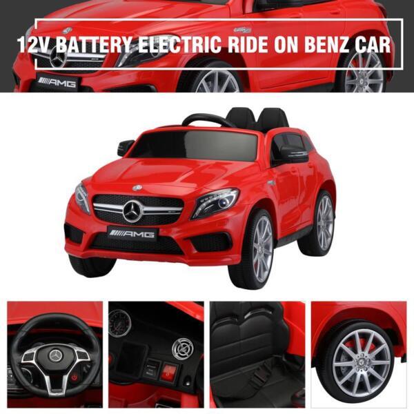12V Mercedes Benz GLA45 Kids 2 Seater Power Wheels With Remote, Red 12v benz licensed gla45 kids electric car red 36 1