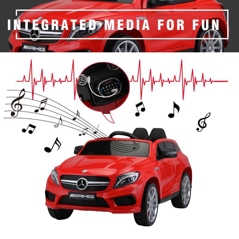 12V Mercedes Benz GLA45 Kids 2 Seater Power Wheels With Remote, Red 12v benz licensed gla45 kids electric car red 37 3
