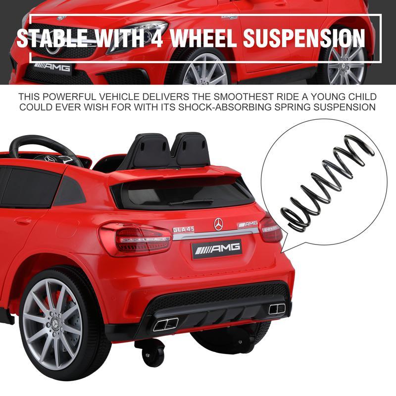 12V Mercedes Benz GLA45 Kids 2 Seater Power Wheels With Remote, Red 12v benz licensed gla45 kids electric car red 38 3