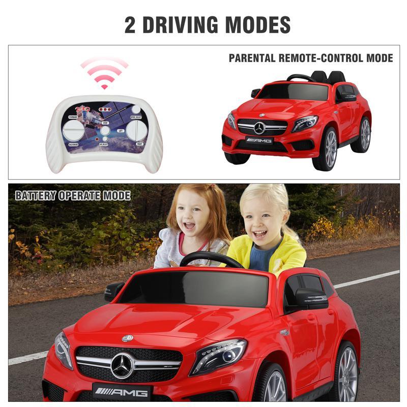 12V Mercedes Benz GLA45 Kids 2 Seater Power Wheels With Remote, Red 12v benz licensed gla45 kids electric car red 39 2