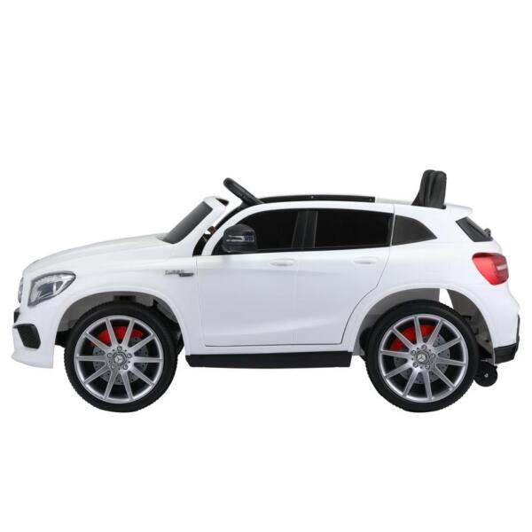 12V Mercedes Benz GLA45 Kids 2 Seater Power Wheels With Remote, White 12v benz licensed gla45 kids electric car white 0