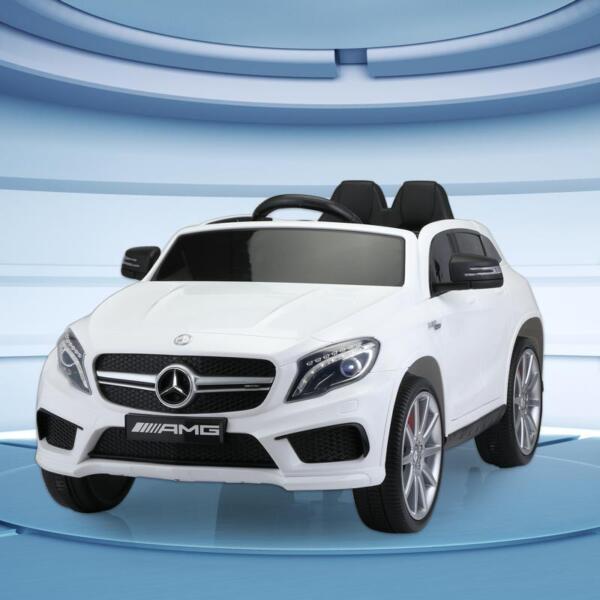 12V Mercedes Benz GLA45 Kids 2 Seater Power Wheels With Remote, White 12v benz licensed gla45 kids electric car white 14
