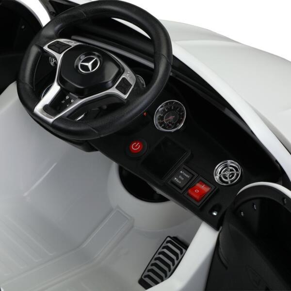 12V Mercedes Benz GLA45 Kids 2 Seater Power Wheels With Remote, White 12v benz licensed gla45 kids electric car white 25 1