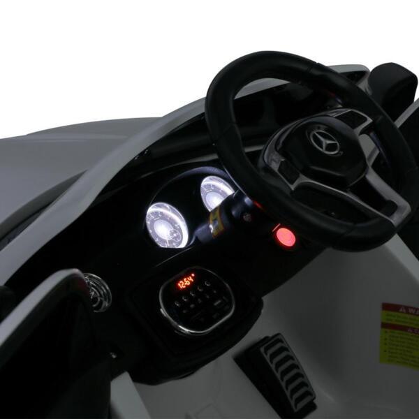 12V Mercedes Benz GLA45 Kids 2 Seater Power Wheels With Remote, White 12v benz licensed gla45 kids electric car white 27