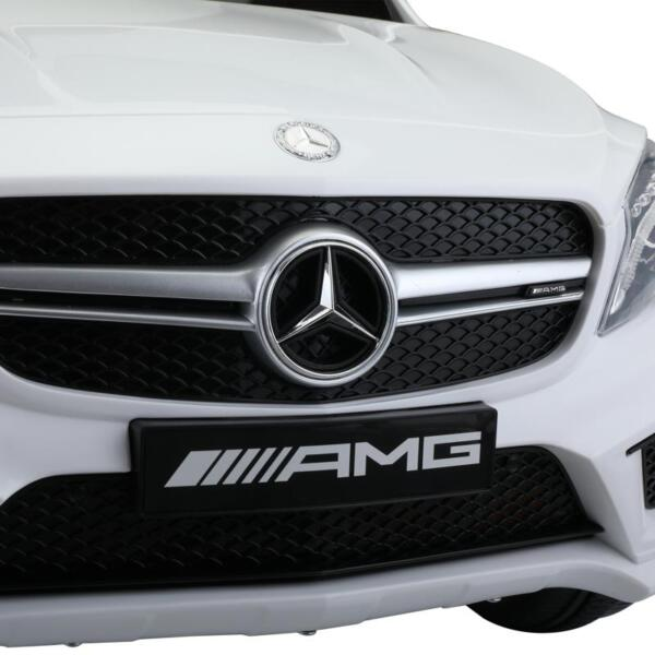 12V Mercedes Benz GLA45 Kids 2 Seater Power Wheels With Remote, White 12v benz licensed gla45 kids electric car white 28