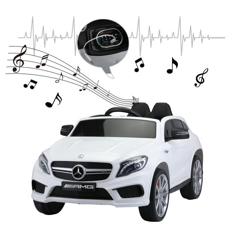 12V Mercedes Benz GLA45 Kids 2 Seater Power Wheels With Remote, White 12v benz licensed gla45 kids electric car white 35 2