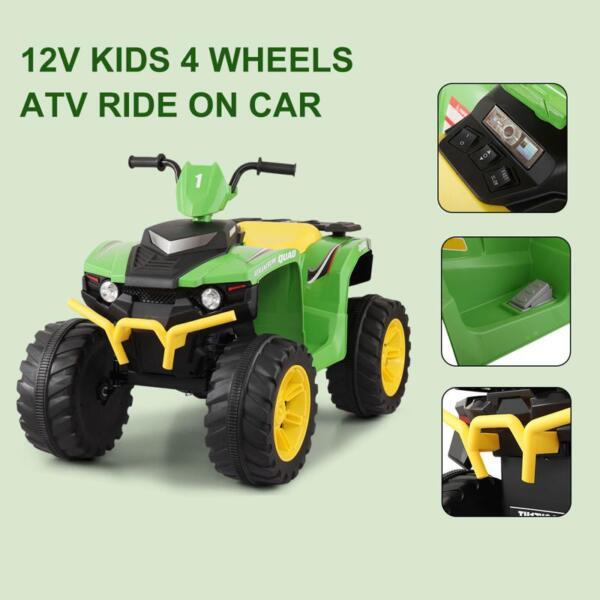 12V Battery Powered Kids Atv Ride On, Green 12v electric atv for kids green 12 1