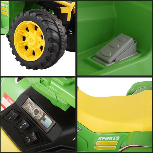 12V Battery Powered Kids Atv Ride On, Green 12v electric atv for kids green 24