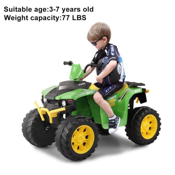 12V Battery Powered Kids Atv Ride On, Green 12v electric atv for kids green 28