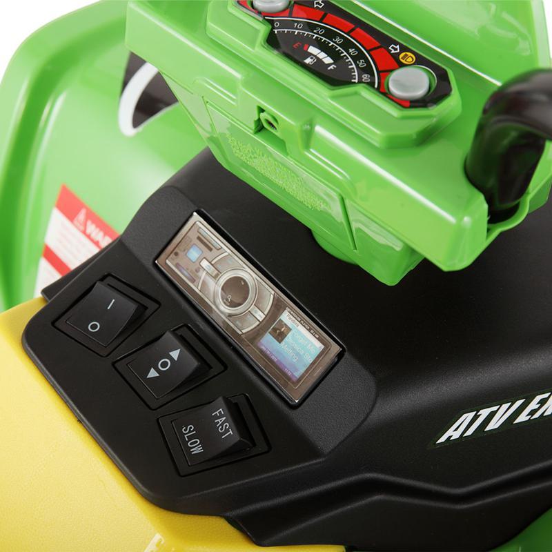 12V Battery Powered Kids Atv Ride On, Green 12v electric atv for kids green 32 1