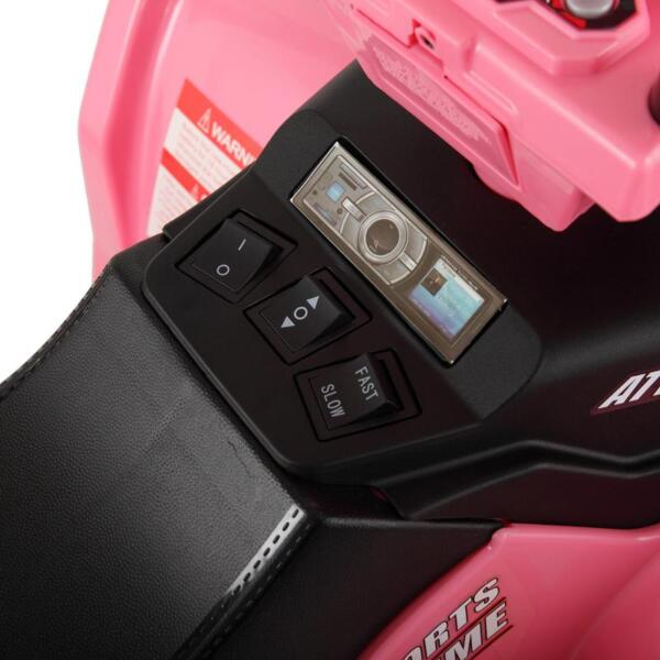12V Electric Atv for Kids, Pink 12v electric atv for kids pink 14 1