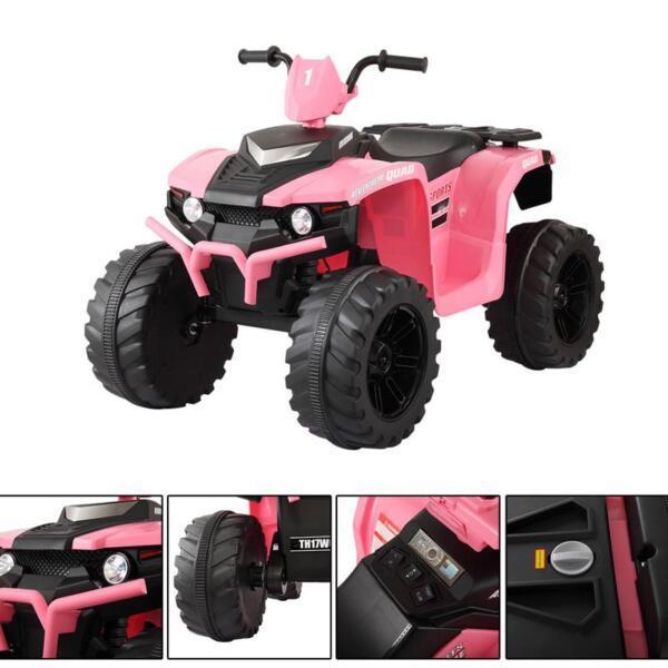 12V Electric Atv for Kids, Pink 12v electric atv for kids pink 16