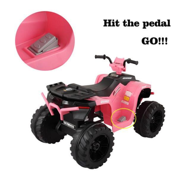 12V Electric Atv for Kids, Pink 12v electric atv for kids pink 25 1