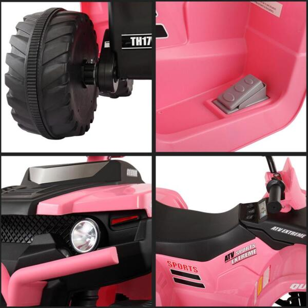 12V Electric Atv for Kids, Pink 12v electric atv for kids pink 26 1
