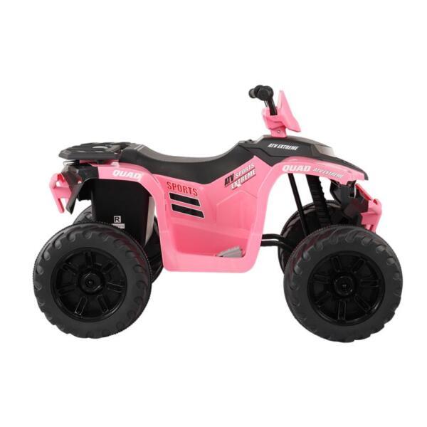 12V Electric Atv for Kids, Pink 12v electric atv for kids pink 3